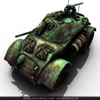 """Next-Gen Armored Car"" Day 6 – CG Premium Tutorial"
