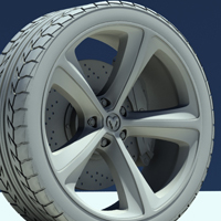 Freebie: An Amazingly Detailed Dodge Tire Model