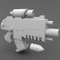 Freebie: An Amazing Stylized Sci-Fi Gun And Bullets!