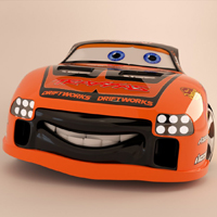 Freebie: Amazing 'Cars 2′ Inspired 3D Model!