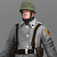 Freebie: Awesome 3D Character Model Of The Medic From Team Fortress 2!