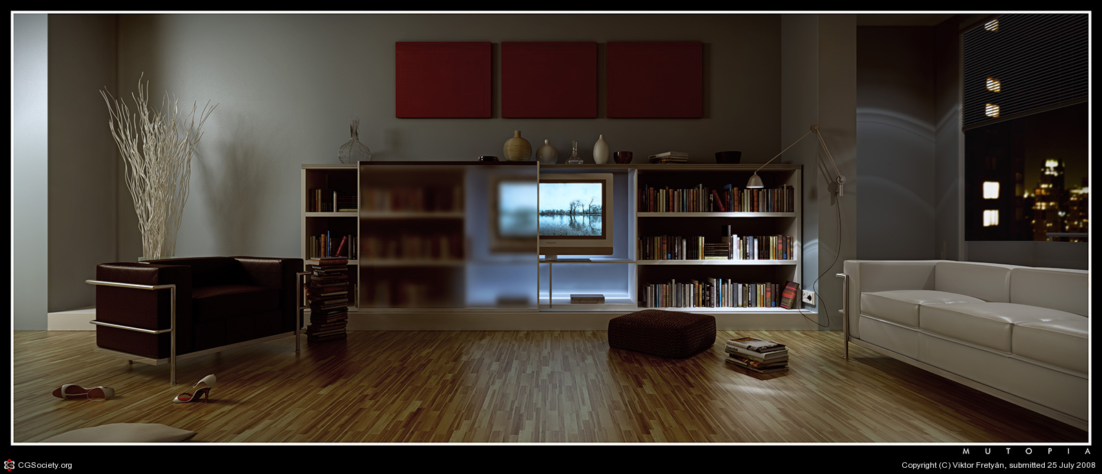 50 amazing architectural renders cinema for Living room cinema 4d