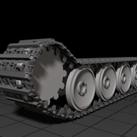 Rigging a Detailed Tank Track using C4D, XPresso, and Mograph