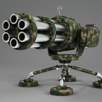 Model a Cartoony Gatling Gun in Luxology Modo 401