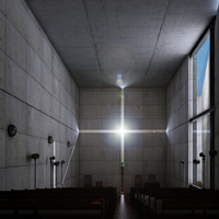 Texturing, Lighting & Rendering 'The Church Of Light' in 3ds Max