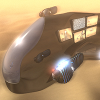 Create a Futuristic Airship Scene in C4D – Day 2