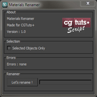 Write a Material Renamer using Maxscript in 3ds Max