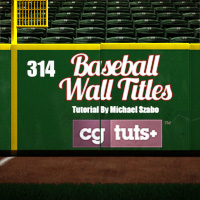 C4D: Modeling and Rendering a Baseball Wall Title Spot