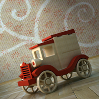 Create a Wooden Toy Car in 3ds Max