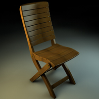 Model A Wooden Chair In Cinema4D