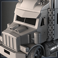'Mini Semi Truck' Modeling – Day 8