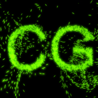 Forming Text with Particles in 3d Studio Max using PFlow