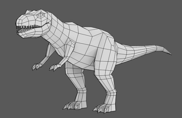 Low Poly Character Modeling Blender : Leunas blendernation modeling a low poly t rex