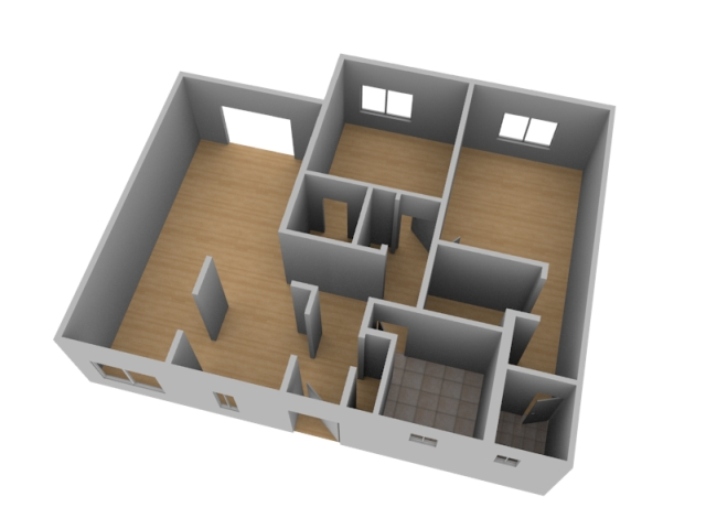 Minecraft 3D House Floor Plans