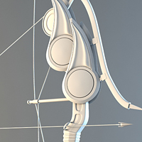 Modeling A High Poly Stylized Bow In 3D Studio Max