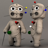 Rigging A Voodoo Doll Character In Maya Using Setup Machine & Face Machine, Blend Shapes