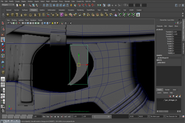 Free Tutorial Modeling A Futuristic Weapon In Autodesk Maya