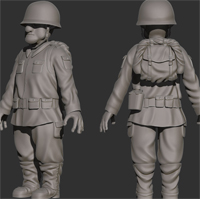 Sculpting Clothing &#038; Accessories For A Toon Soldier Character Using ZBrush