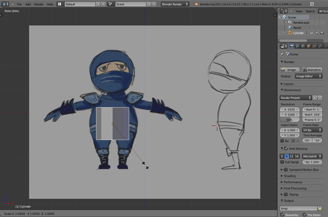 Game Character Modeling In Blender : Unity d creating a low poly ninja game character