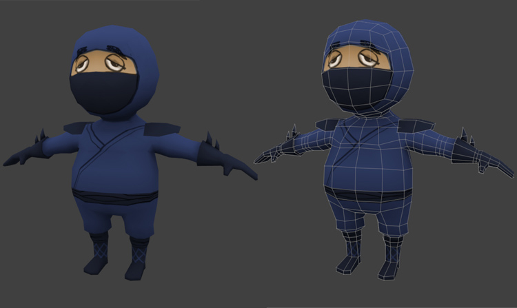 Creating A Low Poly Ninja Game Character Using Blender – UVMapping And Texturing
