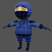 Creating A Low Poly Ninja Game Character Using Blender &#8211; UVMapping And Texturing