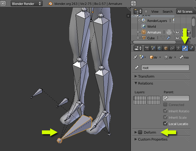 Blender Character Modeling And Rigging : Exporting a blender rigged model to unity forum
