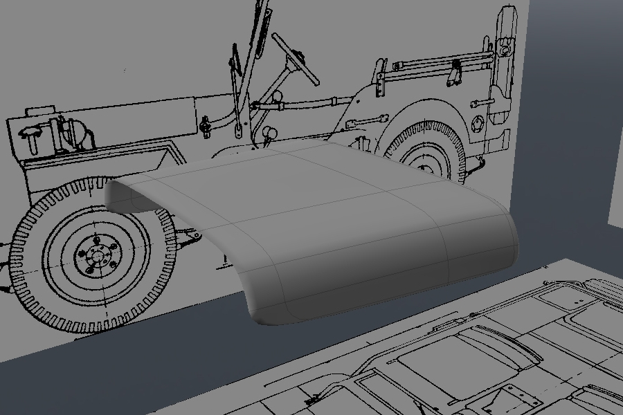 Free Luxology Modo Tutorial - Modeling a High Poly World War II Willys Jeep
