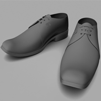 Model, UVMap, Texture, Light and Render Leather Shoes in Maya, Part 1