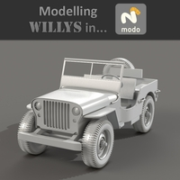 Modeling a High Poly World War II Willys Jeep in Modo – Part 4