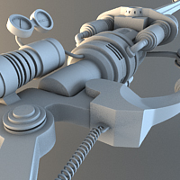 Building a Steampunk Inspired Light Saber in 3ds Max, Part 2