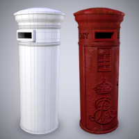 Creating an Old Weathered Low Poly Post Box in Maya, Part 2: Texture Creation