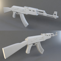 High Poly Weapon Creation: Modeling the AK-47 in 3D Studio Max, Part 2