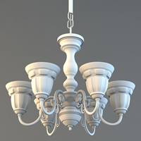 Model A Decorative, High Poly Chandelier In 3D Studio Max
